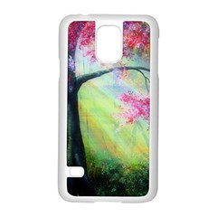 Forests Stunning Glimmer Paintings Sunlight Blooms Plants Love Seasons Traditional Art Flowers Sunsh Samsung Galaxy S5 Case (white) by Amaryn4rt