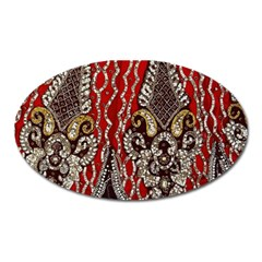 Indian Traditional Art Pattern Oval Magnet by Amaryn4rt