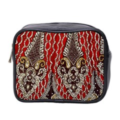 Indian Traditional Art Pattern Mini Toiletries Bag 2 Side by Amaryn4rt