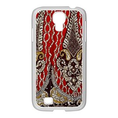 Indian Traditional Art Pattern Samsung Galaxy S4 I9500/ I9505 Case (white) by Amaryn4rt