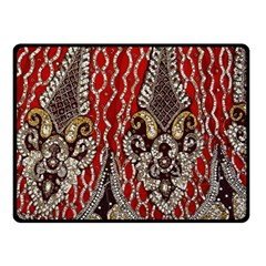 Indian Traditional Art Pattern Double Sided Fleece Blanket (small)  by Amaryn4rt