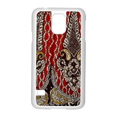 Indian Traditional Art Pattern Samsung Galaxy S5 Case (white) by Amaryn4rt