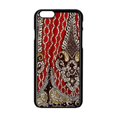 Indian Traditional Art Pattern Apple Iphone 6/6s Black Enamel Case by Amaryn4rt