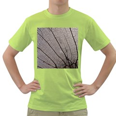 Sea Fan Coral Intricate Patterns Green T Shirt