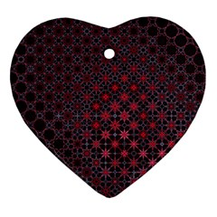 Star Patterns Heart Ornament (two Sides) by Amaryn4rt