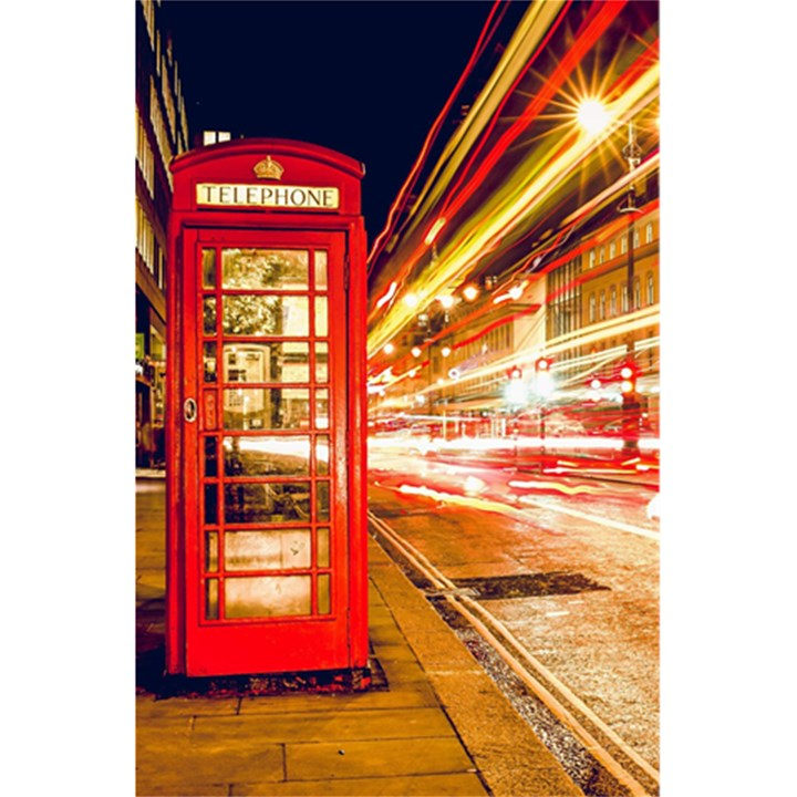 Telephone Box London Night 5.5  x 8.5  Notebooks