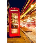 Telephone Box London Night 5.5  x 8.5  Notebooks Back Cover Inside