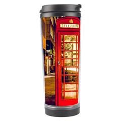 Telephone Box London Night Travel Tumbler