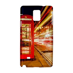 Telephone Box London Night Samsung Galaxy Note 4 Hardshell Case by Amaryn4rt