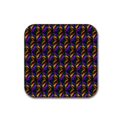 Seamless Prismatic Line Art Pattern Rubber Square Coaster (4 Pack)  by Amaryn4rt