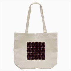 Seamless Prismatic Line Art Pattern Tote Bag (cream) by Amaryn4rt