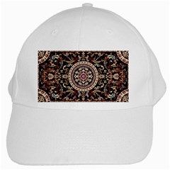 Vectorized Traditional Rug Style Of Traditional Patterns White Cap by Amaryn4rt
