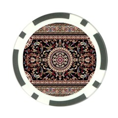 Vectorized Traditional Rug Style Of Traditional Patterns Poker Chip Card Guard by Amaryn4rt