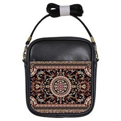Vectorized Traditional Rug Style Of Traditional Patterns Girls Sling Bags by Amaryn4rt