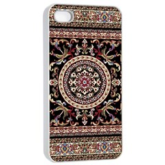 Vectorized Traditional Rug Style Of Traditional Patterns Apple Iphone 4/4s Seamless Case (white) by Amaryn4rt