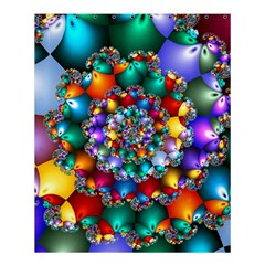 Rainbow Spiral Beads Shower Curtain 60  X 72  (medium)  by WolfepawFractals