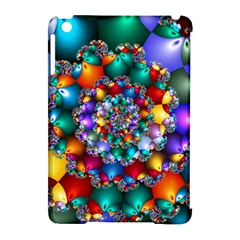 Rainbow Spiral Beads Apple Ipad Mini Hardshell Case (compatible With Smart Cover) by WolfepawFractals