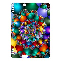 Rainbow Spiral Beads Kindle Fire Hdx Hardshell Case by WolfepawFractals