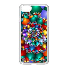 Rainbow Spiral Beads Apple Iphone 7 Seamless Case (white) by WolfepawFractals