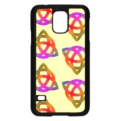 Celtic Knot Pastel Large Samsung Galaxy S5 Case (black) by CannyMittsDesigns