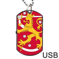 Coat Of Arms Of Finland Dog Tag Usb Flash (two Sides) by abbeyz71