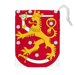 Coat Of Arms Of Finland Drawstring Pouches (extra Large)
