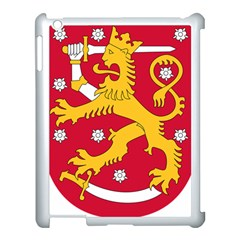 Coat Of Arms Of Finland Apple Ipad 3/4 Case (white) by abbeyz71