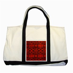 3d Metal Pattern On Wood Two Tone Tote Bag by Amaryn4rt