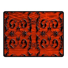 3d Metal Pattern On Wood Fleece Blanket (small) by Amaryn4rt