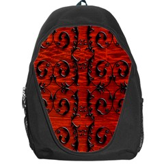 3d Metal Pattern On Wood Backpack Bag by Amaryn4rt