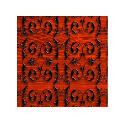 3d Metal Pattern On Wood Small Satin Scarf (square) by Amaryn4rt
