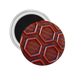 3d Abstract Patterns Hexagons Honeycomb 2 25  Magnets by Amaryn4rt