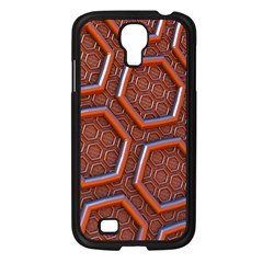 3d Abstract Patterns Hexagons Honeycomb Samsung Galaxy S4 I9500/ I9505 Case (black) by Amaryn4rt