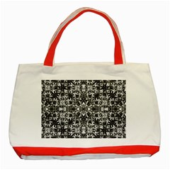 Modern Oriental Pattern Classic Tote Bag (red) by dflcprints