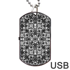 Modern Oriental Pattern Dog Tag Usb Flash (two Sides) by dflcprints