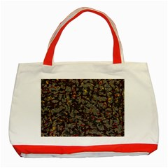 A Complex Maze Generated Pattern Classic Tote Bag (red) by Amaryn4rt