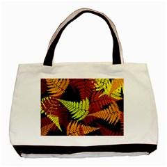 3d Red Abstract Fern Leaf Pattern Basic Tote Bag (two Sides) by Amaryn4rt