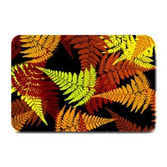 3d Red Abstract Fern Leaf Pattern Plate Mats by Amaryn4rt