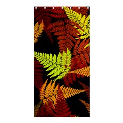 3d Red Abstract Fern Leaf Pattern Shower Curtain 36  X 72  (stall)  by Amaryn4rt