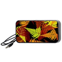 3d Red Abstract Fern Leaf Pattern Portable Speaker (black) by Amaryn4rt