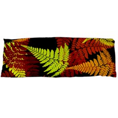3d Red Abstract Fern Leaf Pattern Body Pillow Case (dakimakura) by Amaryn4rt