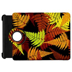 3d Red Abstract Fern Leaf Pattern Kindle Fire Hd 7  by Amaryn4rt
