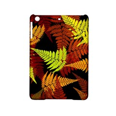 3d Red Abstract Fern Leaf Pattern Ipad Mini 2 Hardshell Cases by Amaryn4rt