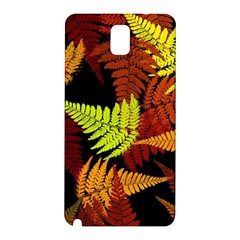 3d Red Abstract Fern Leaf Pattern Samsung Galaxy Note 3 N9005 Hardshell Back Case by Amaryn4rt