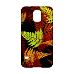 3d Red Abstract Fern Leaf Pattern Samsung Galaxy S5 Hardshell Case  by Amaryn4rt