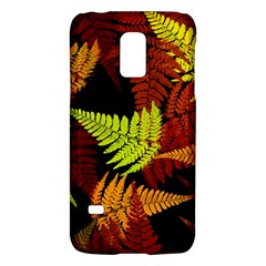 3d Red Abstract Fern Leaf Pattern Galaxy S5 Mini by Amaryn4rt