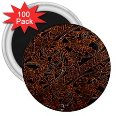 Art Traditional Indonesian Batik Pattern 3  Magnets (100 Pack) by Amaryn4rt