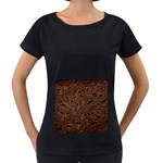 Art Traditional Indonesian Batik Pattern Women s Loose-Fit T-Shirt (Black)