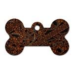 Art Traditional Indonesian Batik Pattern Dog Tag Bone (Two Sides)