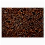 Art Traditional Indonesian Batik Pattern Large Glasses Cloth (2-Side)